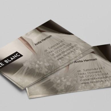 carte de vizita, imprimari.ro, Le Blanc