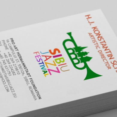 carte de vizita, imprimari.ro, Sibiu Jazz Festival