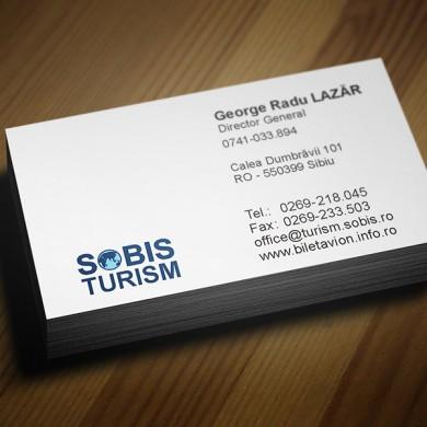 carte de vizita, imprimari.ro, Sobis Turism