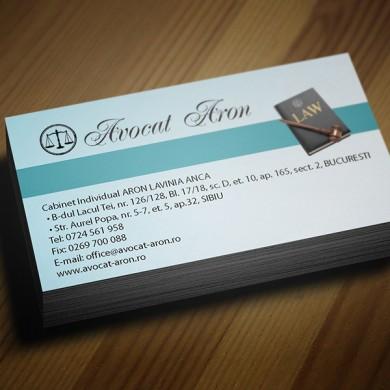 carte de vizita, imprimari.ro, Avocat Aron