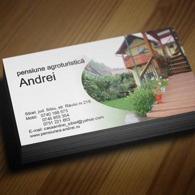 carte de vizita, imprimari.ro, Pensiune Agroturistica