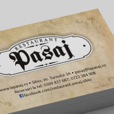 carte de vizita, imprimari.ro, Restaurant Pasaj