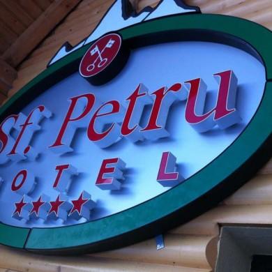 litere volumetrice iluminate, imprimari.ro, Hotel Sf. Petru