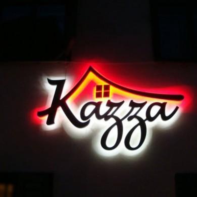 litere volumetrice iluminate, imprimari.ro, Kazza