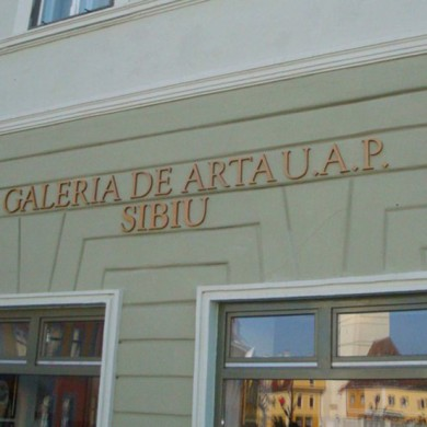 litere volumetrice polistiren, imprimari.ro, Galeria de Arta U.A.P. Sibiu