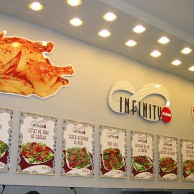 litere volumetrice polistiren, imprimari.ro, Infinity Food