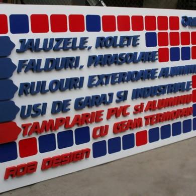 litere volumetrice polistiren, imprimari.ro, RollDesign