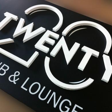 litere volumetrice polistiren, imprimari.ro, Twenty Club&Lounge