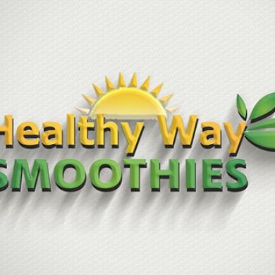 logo design, imprimari.ro, Healthy Way Smoothies