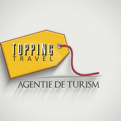 logo design, imprimari.ro, Topping Travel
