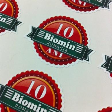 autocolante decupate pe contur, imprimari.ro, Biomin