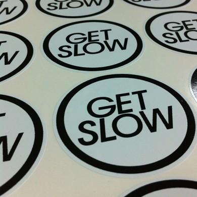 autocolante decupate pe contur, imprimari.ro, Get Slow