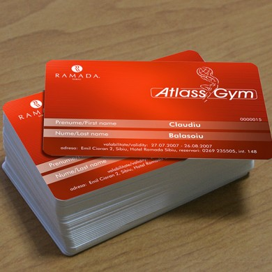 carduri, imprimari.ro, Atlass Gym