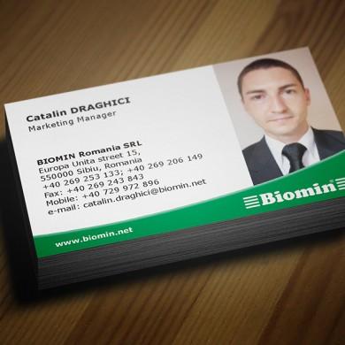 carte de vizita, imprimari.ro, Biomin