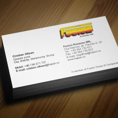 carte de vizita, imprimari.ro, Fusion