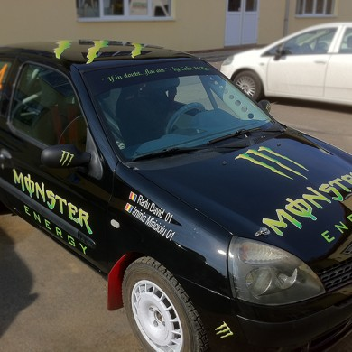 inscriptionari auto, imprimari.ro, Monster Energy