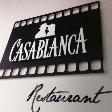 litere volumetrice, imprimari.ro, Restaurant Casablanca