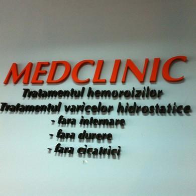 litere volumetrice polistiren, imprimari.ro, Medclinic