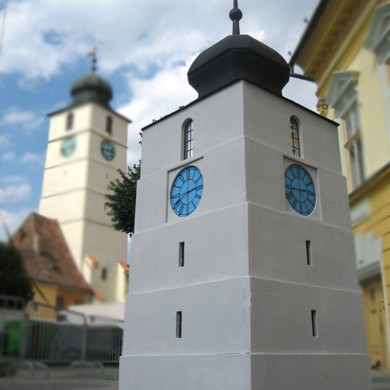litere volumetrice polistiren, imprimari.ro, replica Turnul Sfatului Sibiu