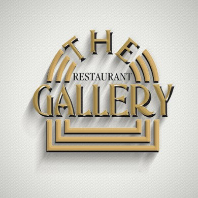 logo design, imprimari.ro, Restaurant The Gallery