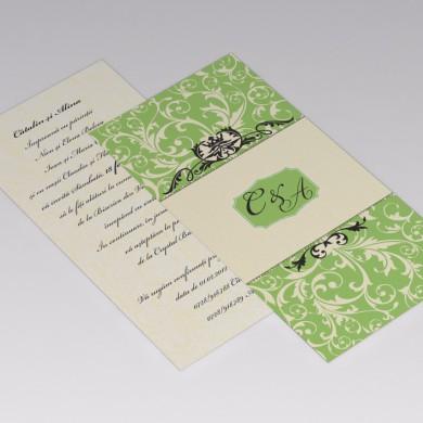 Invitatie nunta, format DL (100x210mm)